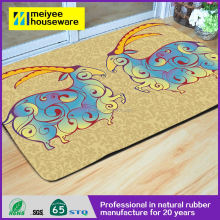 Ecomonical Natural rubber Mats Outdoor Entrance Doormat,Antelope Printing Design Bedroom Mats