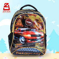 Fashion Kids School Backpack With Cars Picture