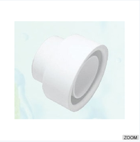 315 WHITE RUBBER DOUBLE LIP CONNECTOR - 45MM DIA