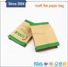 FDA certificated small paper bag coated food grade cheap heat sealed seft seal kraft pouch