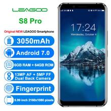 Original LEAGOO S8 Pro 4G Mobile Phones Android 7.0 6GB RAM 64GB ROM Octa Core Smartphone Dual Back Cameras 5.99 inch Cell Phone