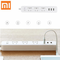 Original Xiaomi Mi Smart Power Socket Portable Strip Plug Adapter with 3 USB Port Multifunctional Smart Home Electronics