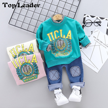 Top Lader2019 Spring New Boy Cartoon Letter Print Long Sleeve + Jeans Two-Piece <strong>Set</strong> <strong>Children's</strong> <strong>Set</strong>