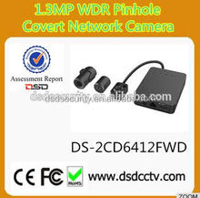 hikvision CCTV camera 1.3mp pinhole ip camera with WDR DS-2CD6412FWD