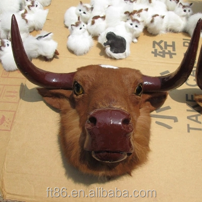 simulation country style home decor decorative bull heads