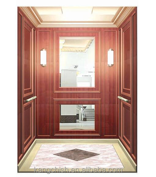 630KG mirror stainless steel cabin automctic elevator small home lift