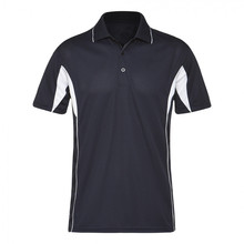High quality plain cotton polo shirt/black collar polo shirts for men/rib collar polo shirt