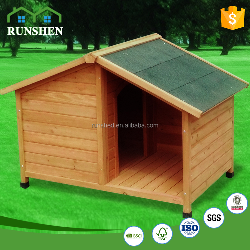 Water-proof wooden pet house for dog