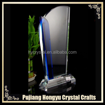 high quality clear crystal dedication plaque award