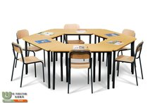 High quality irregular shape recess table with different color for kindergarten