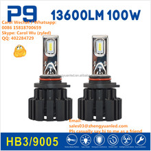 Ever Best 100% TOP 1 Bright 100W 13600 lumen h4 projector pk h7 xenon led P9 car led bulb led car headlight 45W h11 g5 g6 P7 CSP