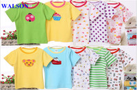 Walson hot sales Eco-friendly cotton custom baby romper,baby clothes made in China t shirt