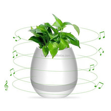 Led Night Light Magic Smart Touching Music Flower Pot With Bluetooth Speaker