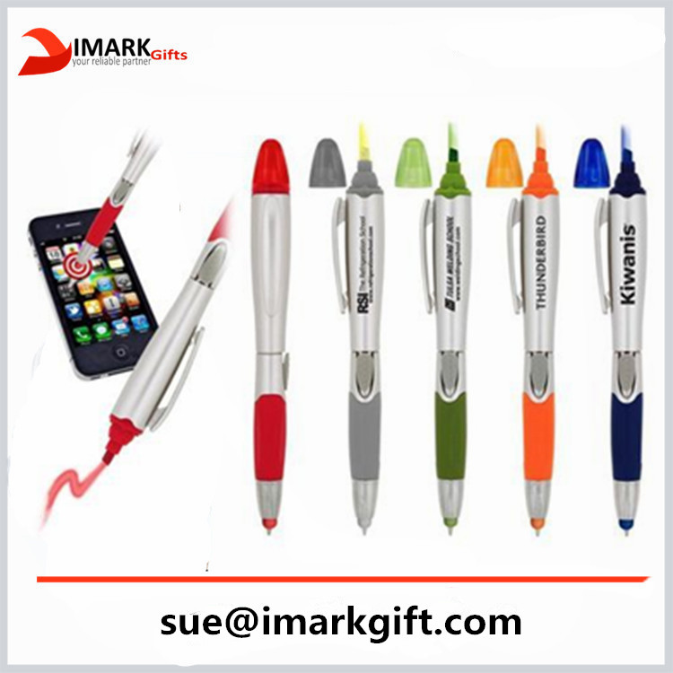 Twin Write Highlighter Pen And stylus touch Ballpoint Pen