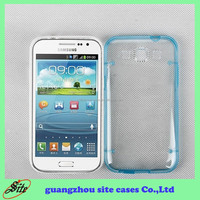 Noctilucent transparent ultra thin pc tpu combo back cover case for samsung galaxy win i8552