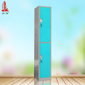 RAL 5010 Door Metal Single Column 2 Tier Armoire Lockers