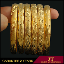 China wholesale custom 18k gold bangle saudi arabia jewelry