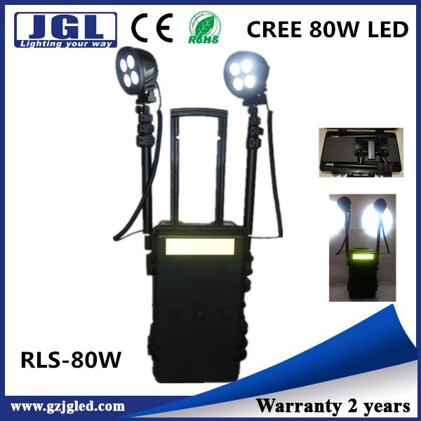 RLS-80w cree Tunnel construction police wireless led lighting system