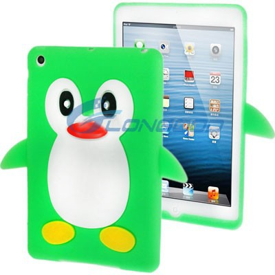 Penguin Shape Minion 3D Silicon Case for iPad mini
