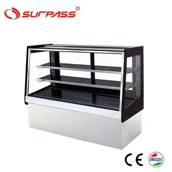 Factory price 900*660*1200 2 shelves bakery pastry cake showcase