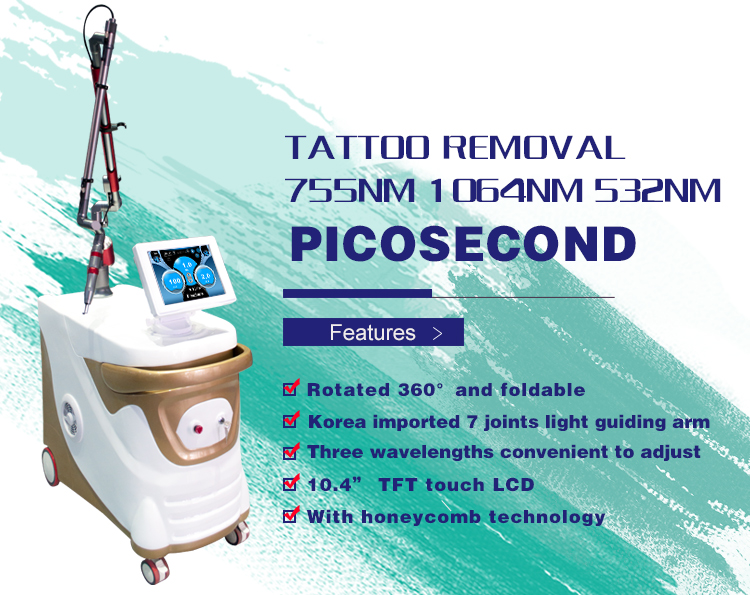 ZF1 Q-switched nd Yag Laser picosecond laser speckle removal tattoo removal machine