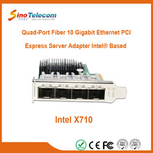 Sino-Telecom Quad-Port Fiber 10G Network Adapter with SFP+ Connectivity
