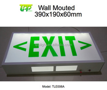 Emergency Exit Sign Light 5W 1.5Hour Fire Led Rechargeable Wall Mounted