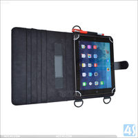 Alibaba china universal 10.1 inch pu leather case for ipad air 2 with pen slot and shoulder strap tablet accessories