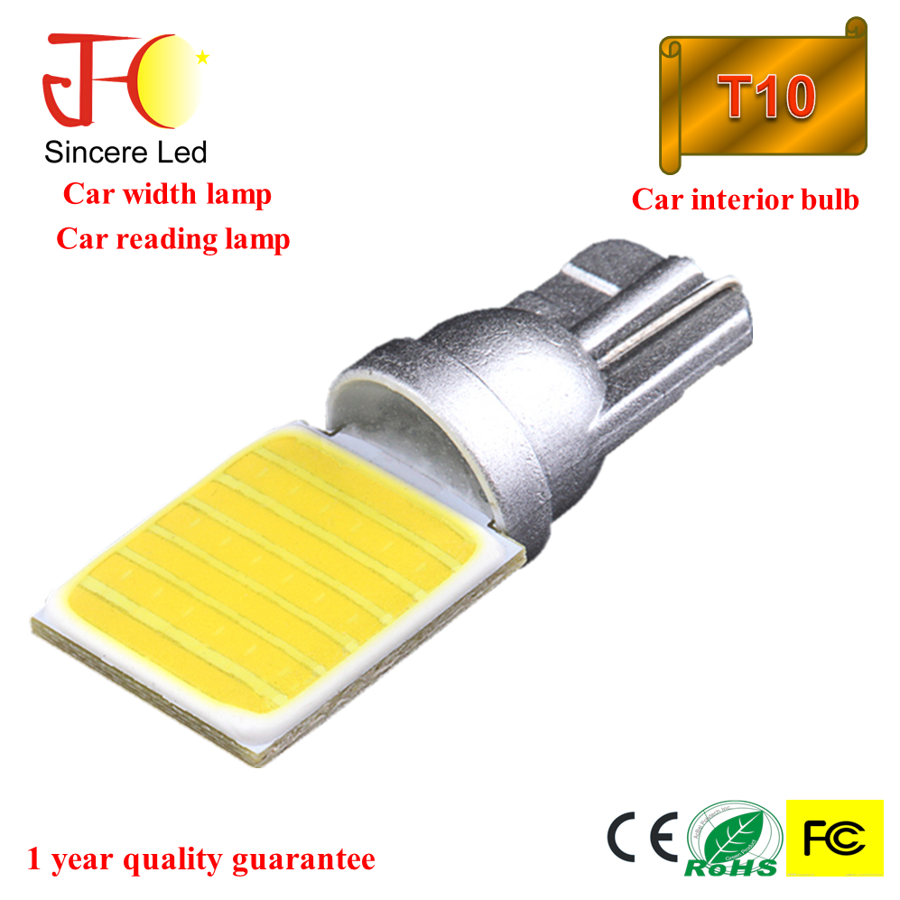 12V T10 COB led Auto Interior lamp 18 chips reading Led Bulb instruent lights