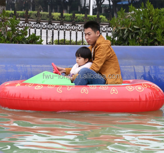CE certificated best-selling kids aqua inflatable electric battery bumper boat for sale