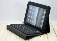 wireless bluetooth keyboard leather case with stand for ipad 2 and new ipad 3