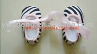 Baby shoes Infant shoes zebra printed baby shoes