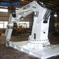 Hydraulic pedestal lifting marine folding arm ship deck crane