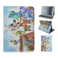 Happy Cute Cartoon Mouse PU Leather Case With Elastic Belt For Apple iPad 3,ipad air,ipad mini From Alibaba China