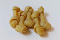 "2.5""-20"" 14g-650g Various Sizes Dog's favorite Cheese Flavor Pet Food Type No-Rawhide Knotted Bone Natural Dog Food"