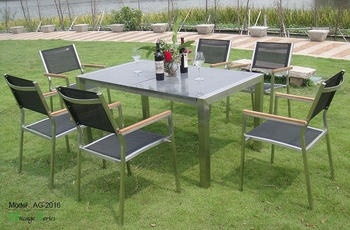Triumph New garden furniture set outdoor table and chairs / marble outdoor stone table legs KD packing