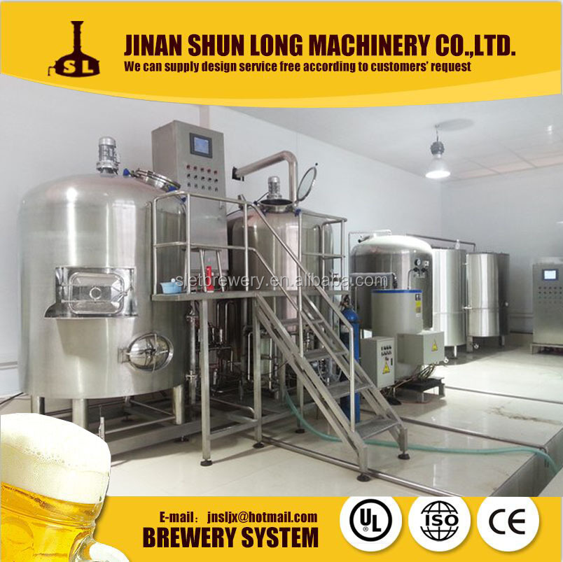 New type 1000L Micro beer brewery/brewing equipment for hotel