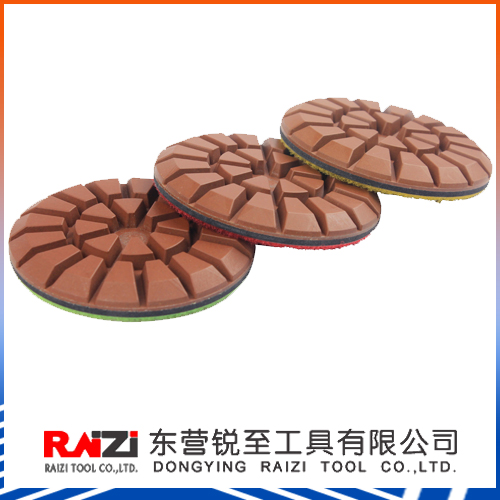 3 Inch Copper Bond Wet Transitional Pads for Concrete Polishing