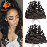 Indian Virgin Hair Wavy Lace Frontal Closure 13x6 Full Frontal Lace Closure Human Hair Ear to Ear Lace Frontals With Baby Hair