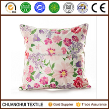 beautiful flower printed latest design cushion cover pillow case