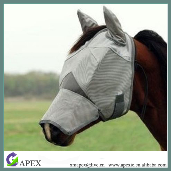 New design Miniature Horse Fly Mask for riding