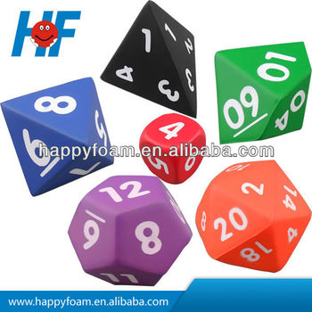 promotional 4/6/8/10/12/20 sides PU antistess dice