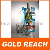 pvc wine bottle bag