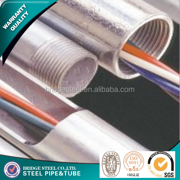 Hot dipped galvanized rigid bs4568 acid resistant electro galvanized steel tube