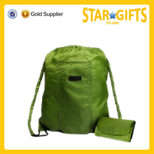Easy Fold Drawstring Backpack Bag - Grocery Gym Hiking Fitness