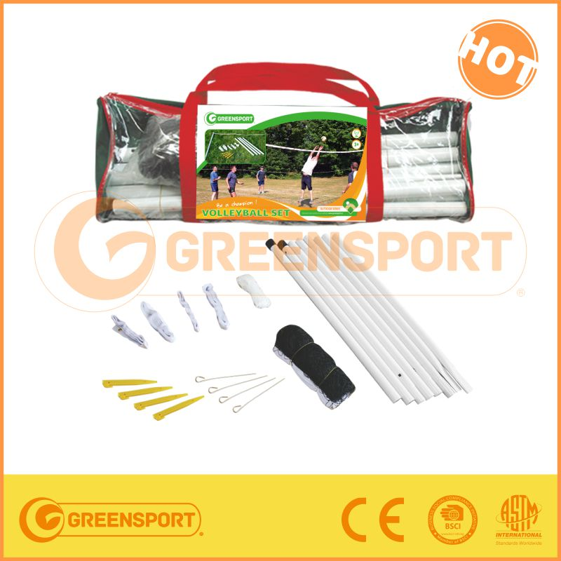 PE/PP/Nylon Material, High Quality Beach Volleyball Net, Standard Size