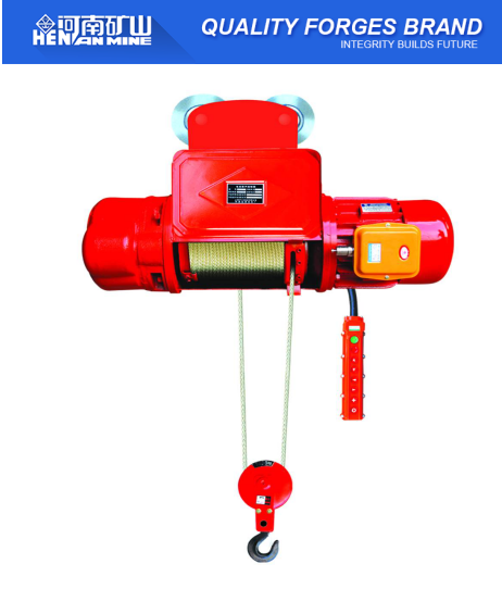China Top 10T Hight Quality Elecreic Harga Wire Rope Lifting Weight Hoist