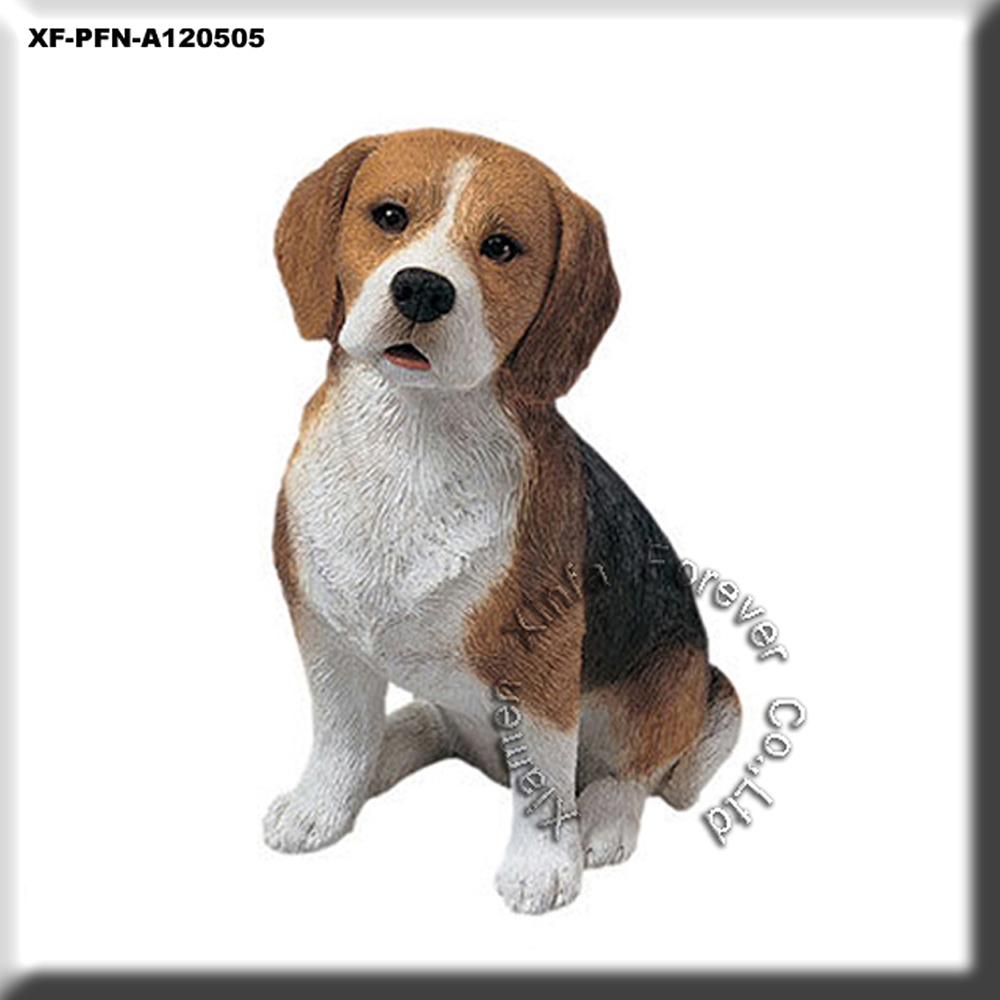polyresin sandicast dog figurine