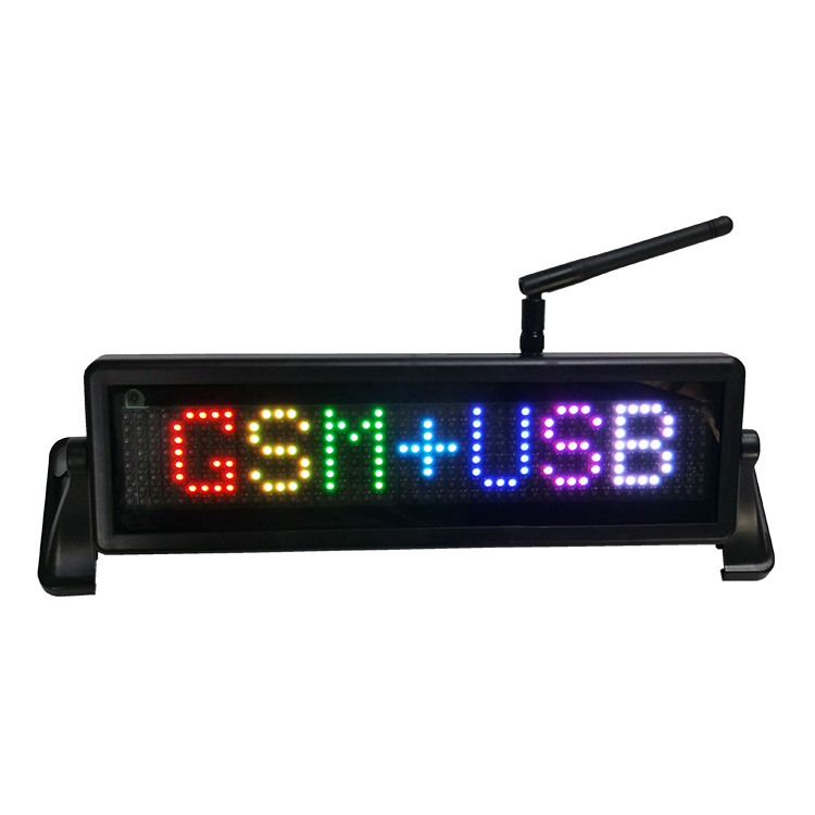 programmable P4.75-8x48RGB full color car LED sign with wireless phone GSM communication control