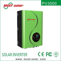 < Must Solar> PV3500 series new panel pure sine wave solar inverter with charge controller price